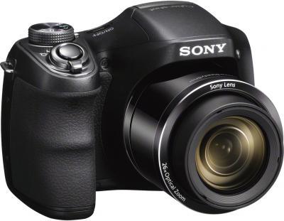 Компактный фотоаппарат Sony Cyber-shot DSC-H200 Black - общий вид