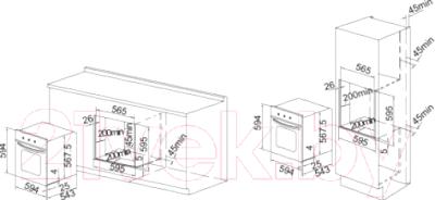 Электрический духовой шкаф Exiteq F41MR