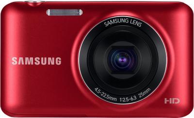 Компактный фотоаппарат Samsung ES95 Red (EC-ES95ZZBPRRU) - вид спереди