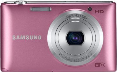 Компактный фотоаппарат Samsung ST150F Pink (EC-ST150FBPPRU) - вид спереди