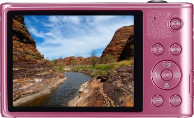 Компактный фотоаппарат Samsung WB30F Pink (EC-WB30FZBPPRU) - вид сзади