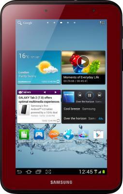 Планшет Samsung Galaxy Tab 2 7.0 8GB 3G Garnet Red (GT-P3100) - фронтальный вид