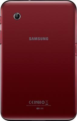 Планшет Samsung Galaxy Tab 2 7.0 8GB 3G Garnet Red (GT-P3100) - вид сзади