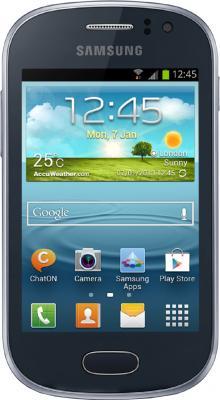Смартфон Samsung Galaxy Fame / S6810 (синий) - общий вид