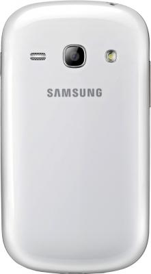Смартфон Samsung Galaxy Fame / S6810 (белый) - вид сзади