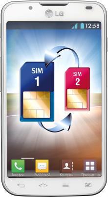 Смартфон LG Optimus L7 II Dual / P715 (белый) - общий вид
