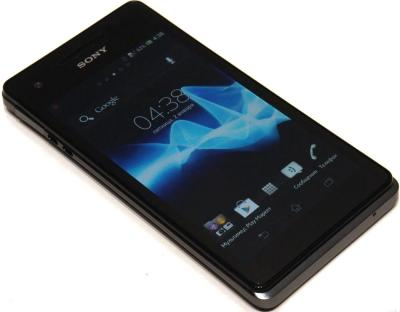 Смартфон Sony Xperia V (LT25i) Black - общий вид