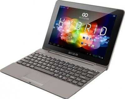 Планшет GoClever TAB HYBRID + 3G - общий вид с клавиатурой
