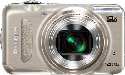 Компактный фотоаппарат Fujifilm FinePix T200 Gold - вид спереди