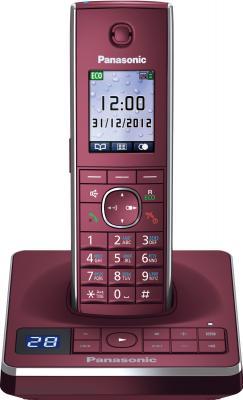 Беспроводной телефон Panasonic KX-TG8561  (красный) - вид спереди
