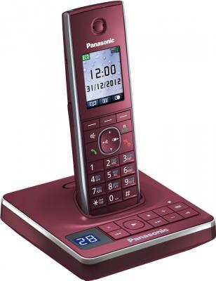 Беспроводной телефон Panasonic KX-TG8561  (красный) - вид сбоку