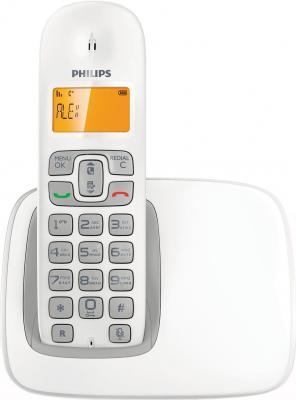 Беспроводной телефон Philips CD1901 White - вид спереди
