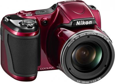 Компактный фотоаппарат Nikon Coolpix L820 Red - общий вид