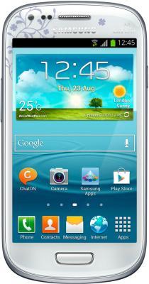 Смартфон Samsung I8190 Galaxy S III mini La FLeur (8Gb) White (GT-I8190 ZWZSER) - общий вид
