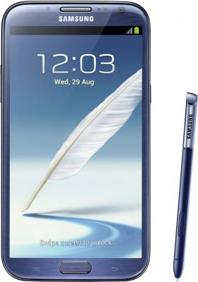 Смартфон Samsung N7100 Galaxy Note II (16Gb) Blue (GT-N7100 ZBDSER) - общий вид