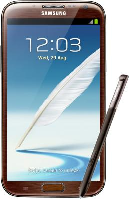 Смартфон Samsung N7100 Galaxy Note II (16Gb) Brown (GT-N7100 ZNDSER) - общий вид