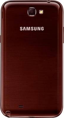 Смартфон Samsung N7100 Galaxy Note II (16Gb) Red (GT-N7100 ZRDSER) - задняя крышка