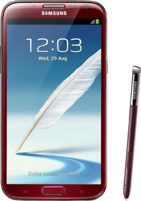 Смартфон Samsung N7100 Galaxy Note II (16Gb) Red (GT-N7100 ZRDSER) - общий вид