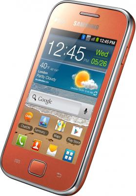 Смартфон Samsung Galaxy Ace Duos / S6802 (оранжевый) - общий вид