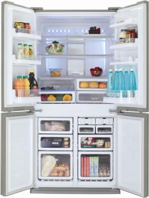 Холодильник с морозильником Sharp SJ-FP97VST - внутренний вид