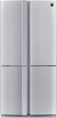 Холодильник с морозильником Sharp SJ-FP97VST - вид спереди