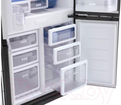 Холодильник с морозильником Sharp SJ-FS97VBK