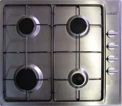 Газовая варочная панель Cata 604 FTI/A+V/S Inox - общий вид