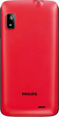Смартфон Philips W536 (Black-Red) - задняя панель