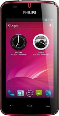 Смартфон Philips W536 (Black-Red) - общий вид