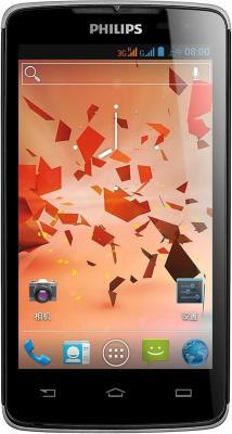 Смартфон Philips Xenium W732 Black - общий вид