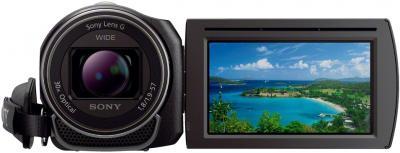 Видеокамера Sony HDR-PJ420E Black - вид спереди