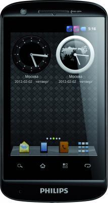 Смартфон Philips W626 Black - общий вид
