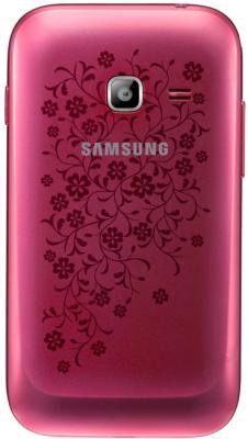 Смартфон Samsung Galaxy Ace Duos La Fleur / S6802 (розовый) - задняя крышка