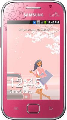 Смартфон Samsung Galaxy Ace Duos La Fleur / S6802 (розовый) - общий вид