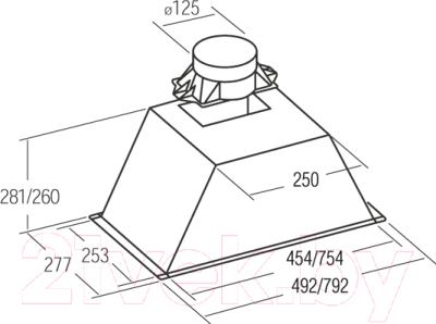 Вытяжка скрытая Cata GT Plus 75 Inox