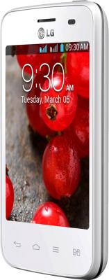 Смартфон LG Optimus L3 II Dual / E435 (белый) - полубоком