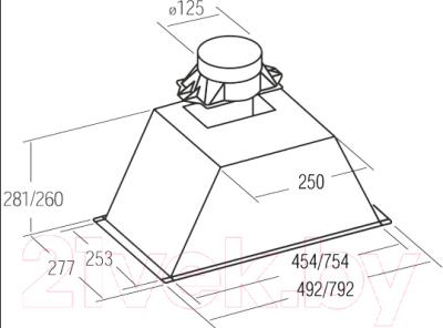 Вытяжка скрытая Cata GL 75 Inox