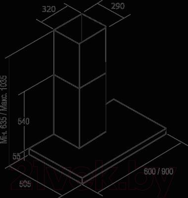 Вытяжка Т-образная Cata Selene 600