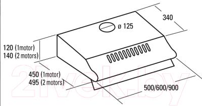 Вытяжка плоская Cata P 500 (3050, нержавеющая сталь)