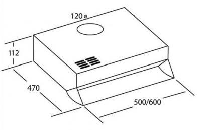 Вытяжка плоская Cata F-2060 Inox - схема