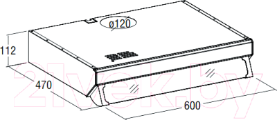 Вытяжка плоская Cata F-2060 Brown