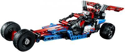 Конструктор Lego Technic Карт с инерционным двигателем (42011) - в комбинации с LEGO Technic 42010