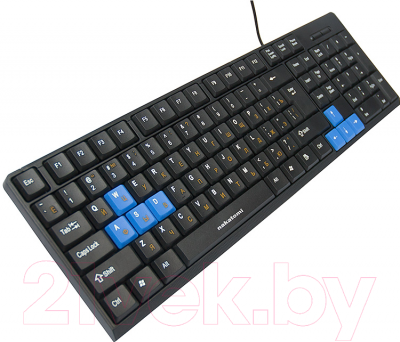 Клавиатура Nakatomi KN-03U (черный/синий)