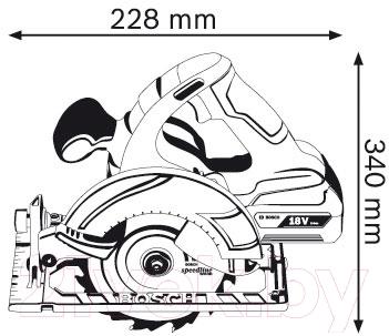 Профессиональная дисковая пила Bosch GKS 18 V-LI Professional (0.601.66H.008)