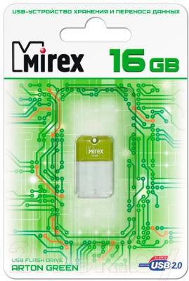 Usb flash накопитель Mirex Arton Green 16GB (13600-FMUAGR16)