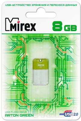 Usb flash накопитель Mirex Arton Green 8GB (13600-FMUAGR08)
