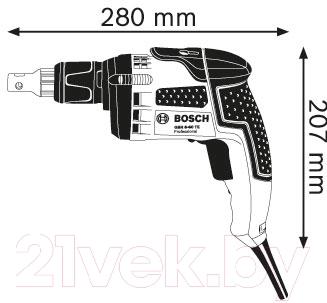 Профессиональный шуруповерт Bosch GSR 6-60 TE Professional (0.601.445.200)