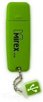 Usb flash накопитель Mirex Chromatic Green 4GB (13600-FMUCHG04)