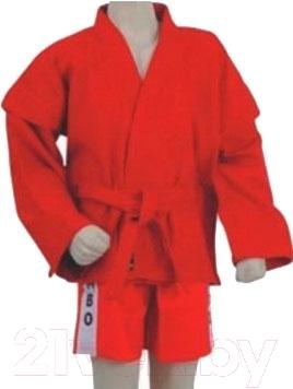Кимоно для самбо NoBrand 3131 140 (красный)
