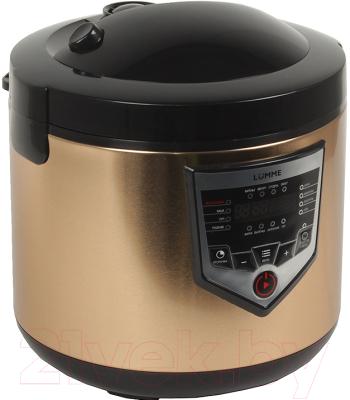 Мультиварка Lumme LU-1446 Chef Pro (черный/золото) - вид спереди